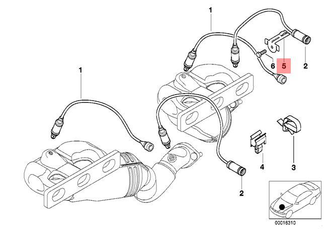 Genuine BMW E46 E85 Z3 Braket For Lambda Oxygen Sensor