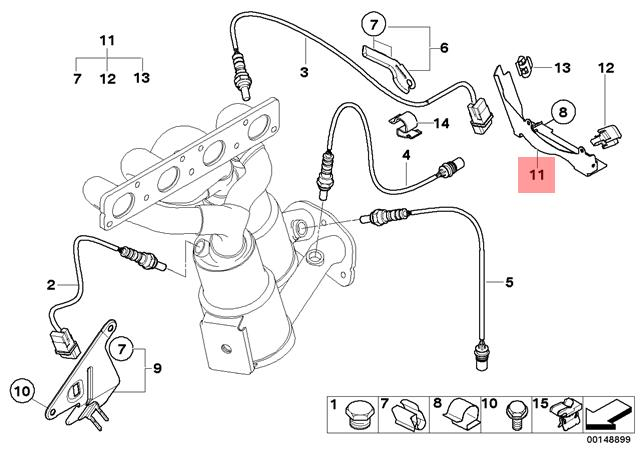 Genuine BMW E87 E90 E91 Lambda Probe Oxygen Sensor Bracket