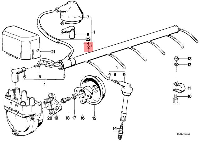 Genuine BMW E12 E23 E24 E28 E3 E9 Coupe Ignition Wiring