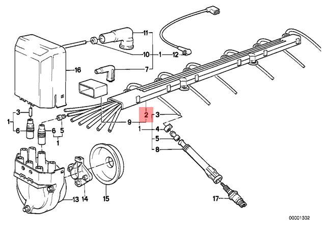 Genuine BMW E12 E21 E28 E30 E34 Z1 Coupe Ignition Wiring