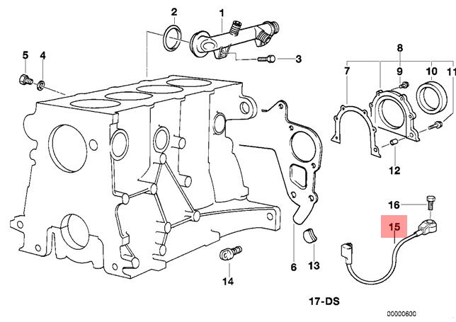 Genuine BMW E34 E36 Cabrio Coupe Knock Detonation Ping