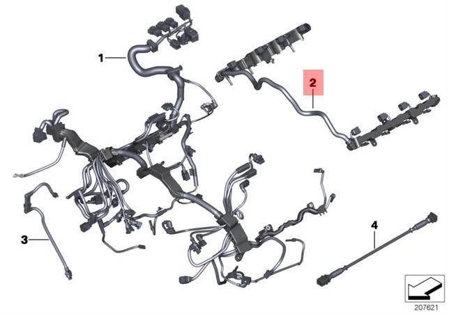 Genuine BMW F01 F02 F04 F07 Ignition Module Wiring Harness