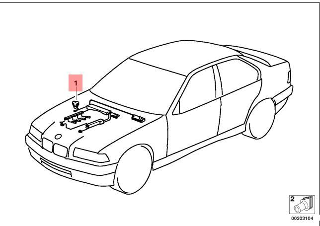 Genuine BMW E36 Coupe Wiring Adapter Reversing Light
