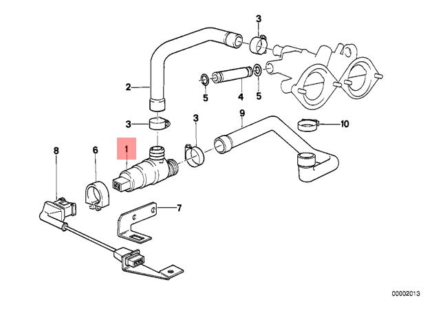 Genuine BMW E23 E24 E28 E30 E32 Fuel Idle Regulating Valve