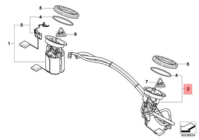 Genuine BMW E87 E90 E91 E92 E93 Fuel Pump Feed Unit Repair