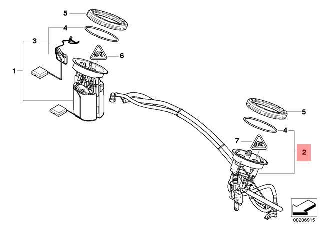 Genuine BMW E81 E82 Fuel Filter + Pressure Regulator