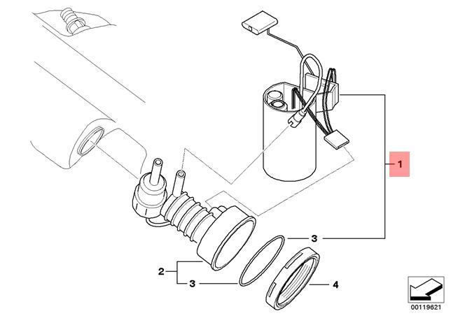 Genuine BMW Z4 E85 E86 Fuel Pump + Level Sensor Repair Kit