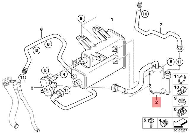 Genuine BMW E85 E86 Coupe Roadster Fuel Vapor Dust Filter