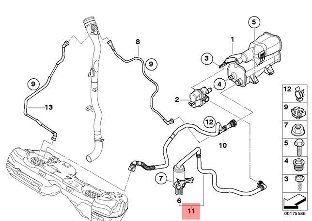 Genuine BMW E90 E90N E91 E91N E92 E92N E93 Exhaust Steam