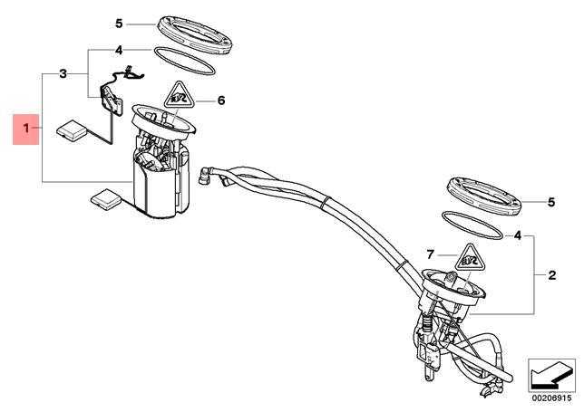 Genuine BMW E81 E82 E90 E91 Fuel Pump Level Sensor Repair
