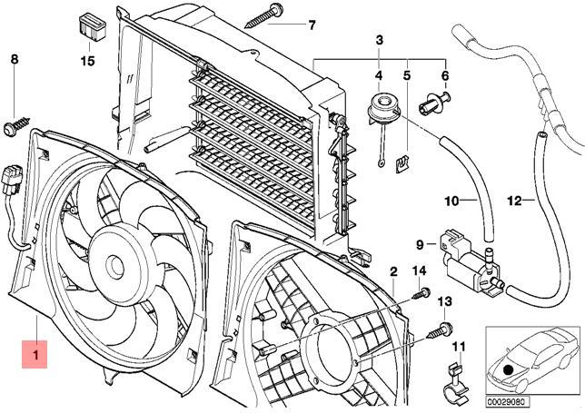 Genuine BMW E46 Cabrio Compact Radiator Condenser Cooling