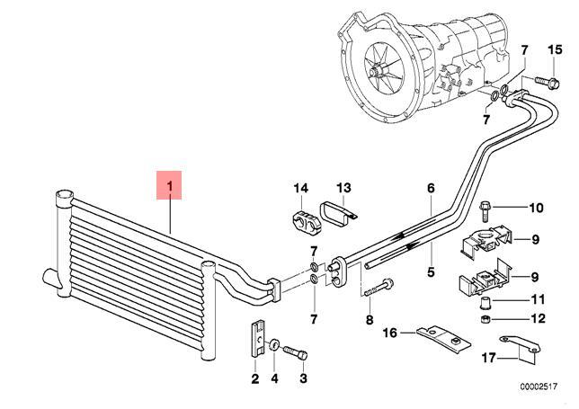 Genuine Transmission Oil Cooler Plug type BMW E39 520i