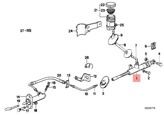 Genuine BMW E24 E28 Coupe Sedan Clutch Input Master