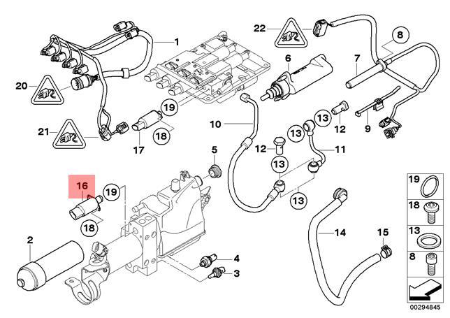 Genuine BMW E60 E61N E63 E64 Coupe Pressure Accumulator
