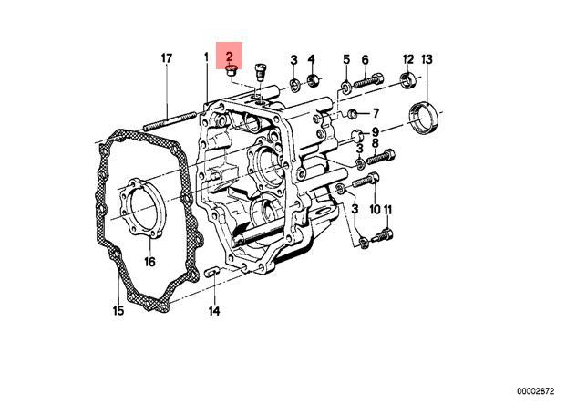 Genuine BMW CMSP E12 E21 Manual Transmission Bleeder Valve