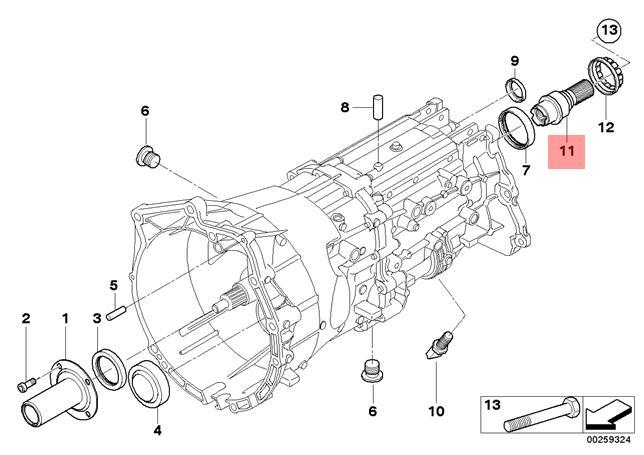 Genuine BMW E53 E60 E60N E61 E61N Adapter shaft