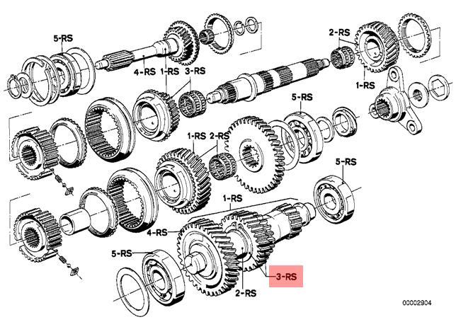 Genuine BMW E12 E23 E24 E28 Wheels 3Rd Gear Repair Kit OEM