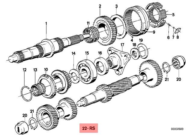 Genuine BMW E28 E30 E34 Manual Transmission 3rd Gear