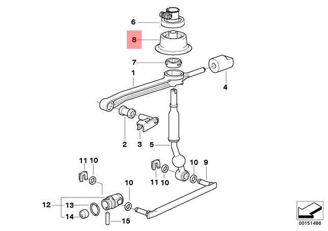 Genuine BMW E36 Z3 Shift Lever Trunk Manual Transmission