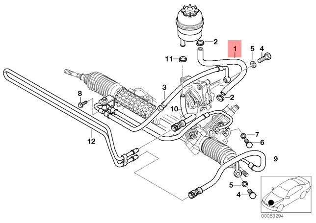 Genuine BMW E46 E85 E86 Convertible Coupe Power Steering