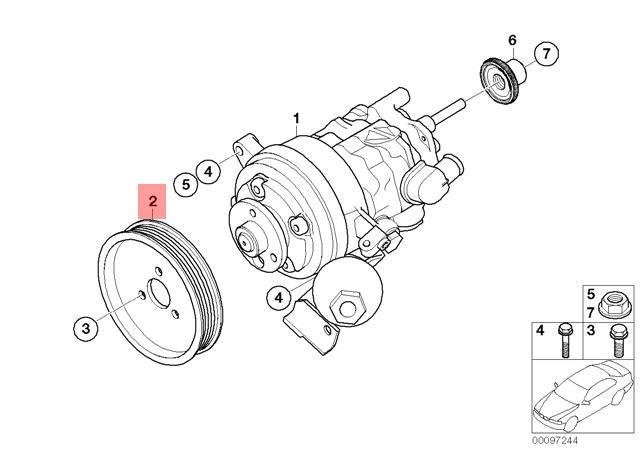 Genuine BMW E60 E60N E61 E61N E63 E63N Power Steering