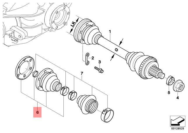 Genuine BMW E36 Z3 Rear Inner Drive Shaft CV Boot Repair