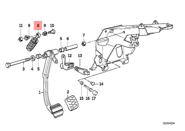Genuine BMW E23 E24 E28 E31 E32 E34 Coupe Clutch Pedal
