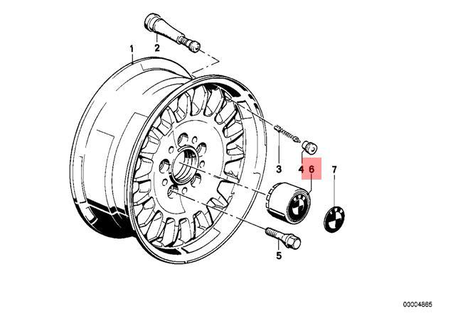 Genuine BMW E12 E23 E24 E28 E34 Coupe Wheel Central Hub