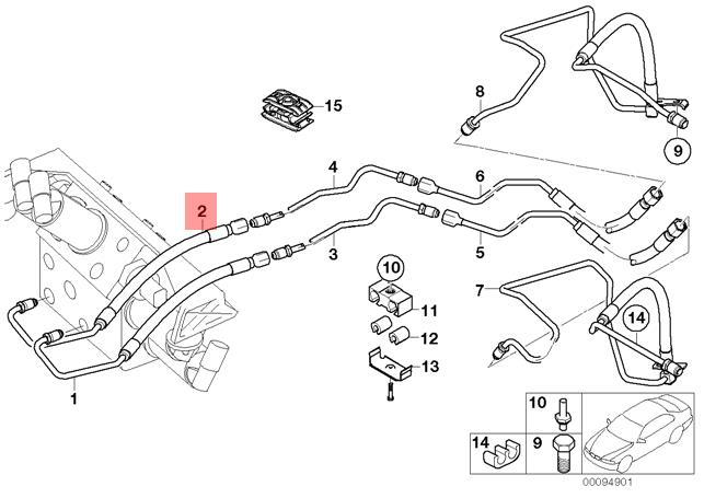 Genuine BMW E65 E66 Dynamic Drive Valve Block Pressure