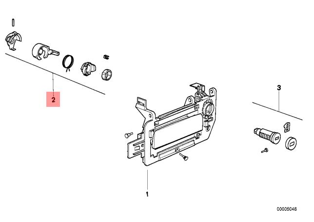 Genuine BMW 8 Series E31 Door Lock Cylinder Right Repair