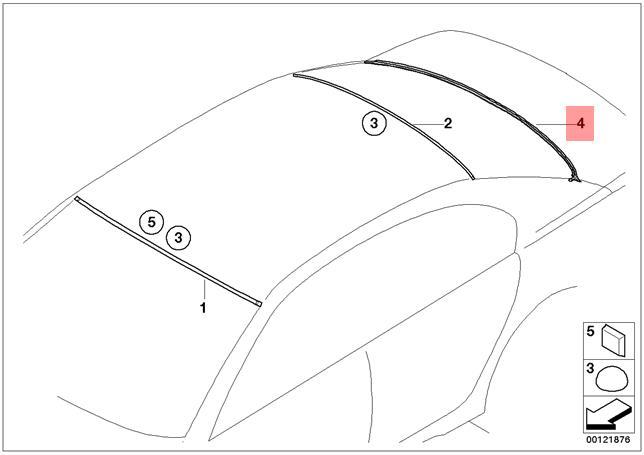 Genuine BMW 7 Series E65 E66 E67 Rear Window Lower
