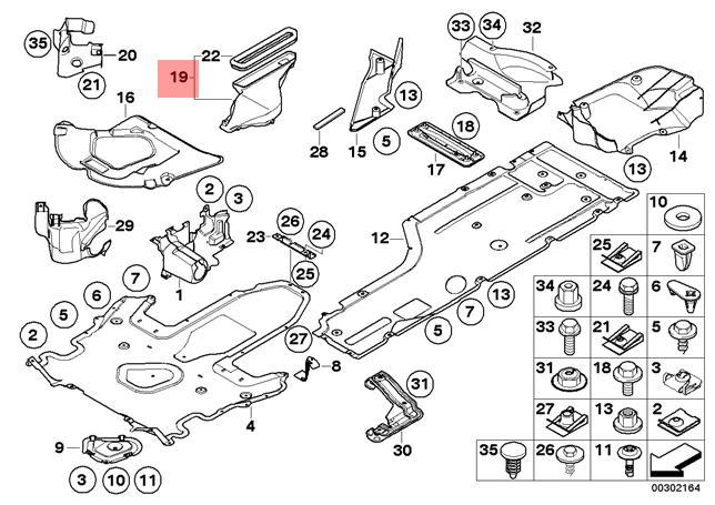 Genuine BMW E60 E63 E64 Cabrio Air Duct Gearbox Oil Filter