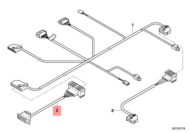 Genuine BMW E53 SUV Car Telephone Connection Cable Adapter