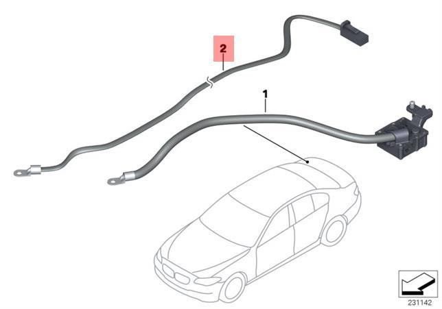 Genuine BMW F10 F11 Sedan Line cut off Relay system