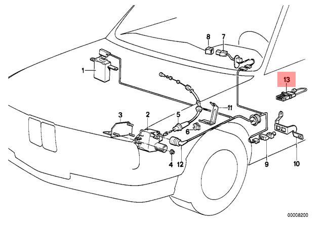 Genuine BMW E32 E34 Sedan Bridging Cable For Clutch Switch