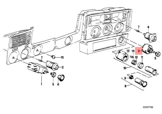 Genuine BMW E21 E28 E30 Coupe Sedan Switch for Heater