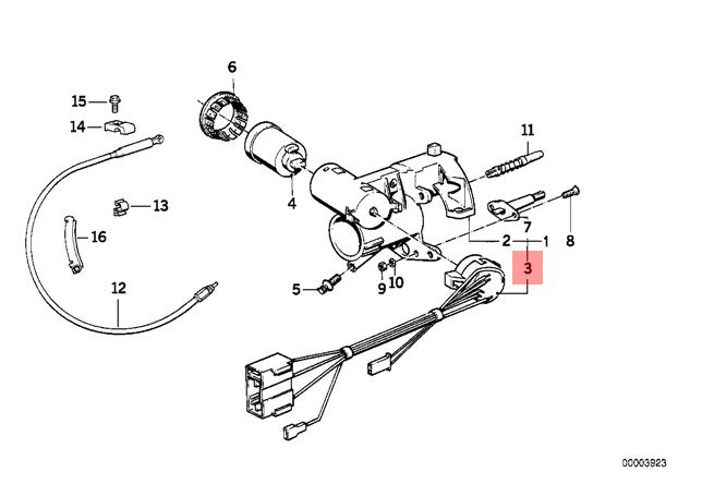 Genuine BMW E32 E34 Sedan Wagon Ignition Lock Switch OEM