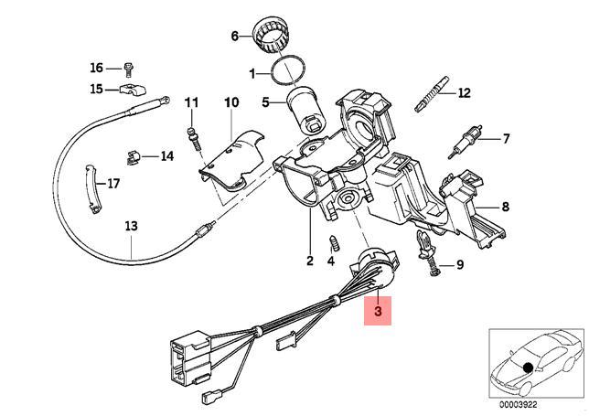 Genuine BMW E32 E34 Sedan Ignition Lock Switch OEM