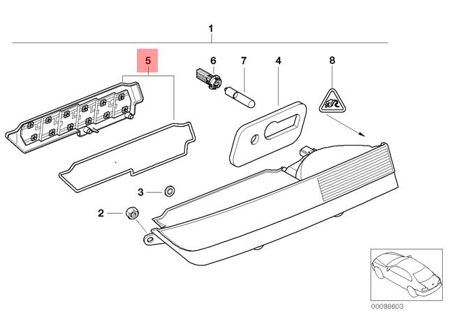 Genuine BMW E65 E66 Tail Light Circuit Board Repair Kit
