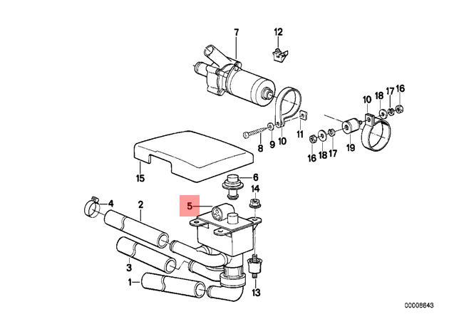Genuine BMW E32 E34 Sedan HVAC Heater Control Valve OEM
