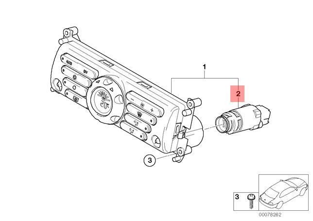 Genuine BMW R50 R53 Interior Temperature Sensor for Blower