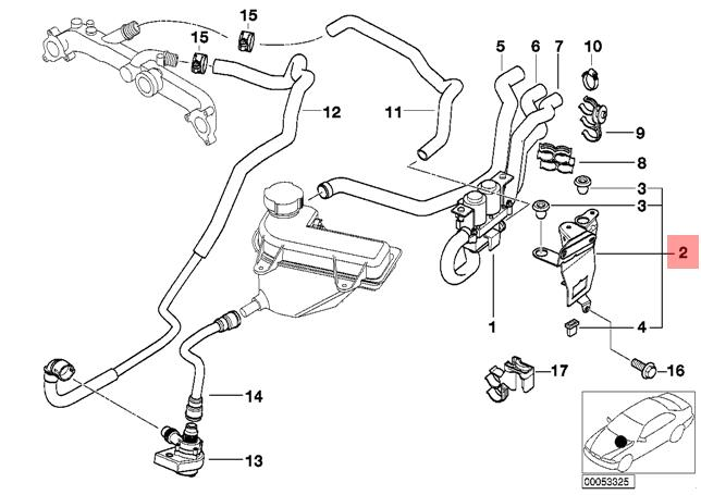 Genuine BMW X5 E53 Heater Control Valve Solenoid BRACKET