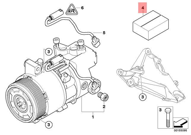 Genuine BMW E90 E91 A/C AC Compressor Driver Plate Repair