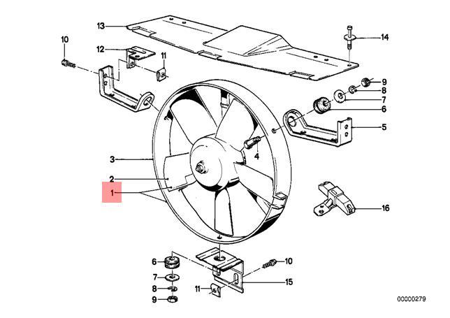 Genuine BMW E28 E30 Cabrio Radiator Condenser Cooling Fan