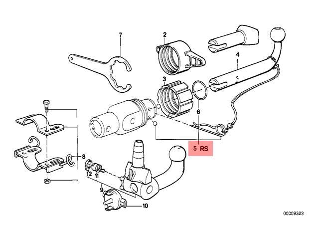 Genuine BMW E12 E21 E23 Tow Hook Detacheable Ball Repair