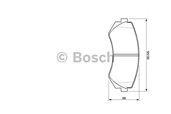 BOSCH Disc Brake Pads SET Front Rear Axle Fits NISSAN