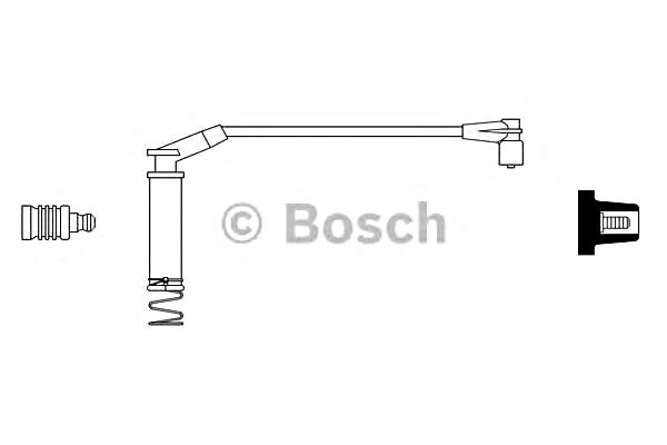BOSCH Ignition Spark Plug Cable Wire Fits OPEL Astra F 1.2