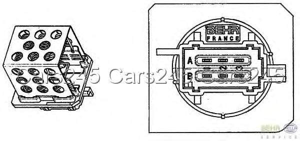 Citroen Xsara Picasso C5 III BEHR HELLA Gebläse Regler