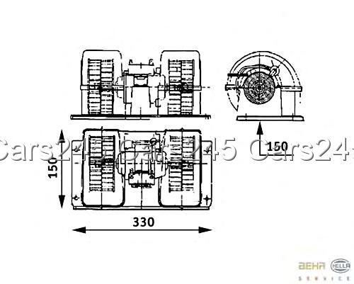 HELLA BEHR Heater Blower MOTOR 8EW009157-481 Fits Renault