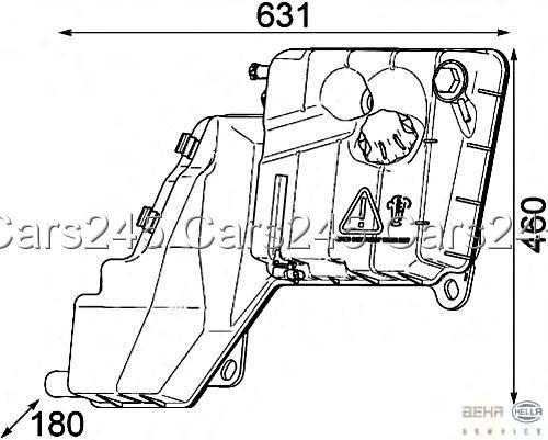 Iveco Trakker Stralis HELLA BEHR Radiator Expansion Tank